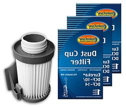 1 Eureka DCF-10 DCF-14 Vacuum HEPA Filter 62731 Optima 431DX