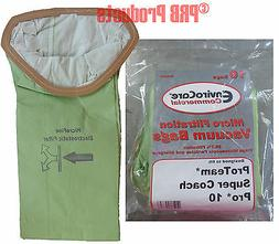 #107313 Allergy Type Bags ProTeam 10 Qt Backpack Vacuum Mode