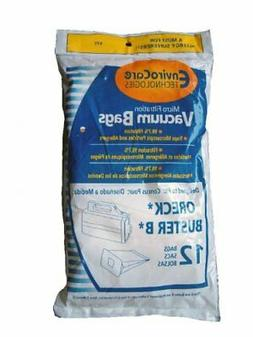 12 High Filtration Vacuum Bags for ORECK Buster B Canister V