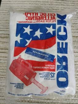 12 Pack Oreck Vacuum Bags for XL Buster B Maxi-Power Compact
