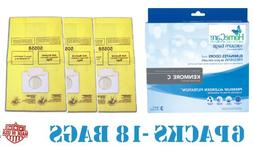 18 Spring Scented Kenmore 5055 Canister Vacuum Bags, 6 Pks o