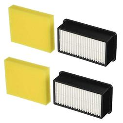 Colorfullife 2 + 2 Pack Style 1008 Filter for Bissell CleanV