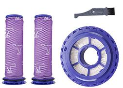 I clean Filter Kits for Dyson DC41/DC65 Vacuums, 2 Packs Pre
