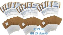 36 Pack Oreck XL Buster B  Canister Vacuum Bags PKBB12DW Hou