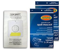 Sharp Canister Type PC-2 Vacuum Cleaner Allergy Bags, EC-10P