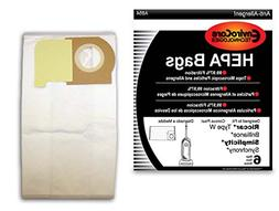 EnviroCare Replacement HEPA Vacuum Bags to fit Riccar Type W