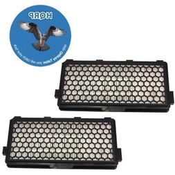 HQRP 2-Pack Active HEPA Filter compatible with Miele S6270 O