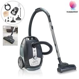 Bagged Canister Vacuum Cleaner w/ HEPA Filter Portable Corde
