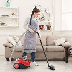 Bagged Cord Rewind Canister Vacuum Cleaner W/ Washable Filte