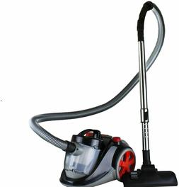 bagless canister cyclonic vacuum 1200 watts black