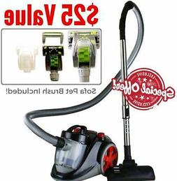 Bagless Canister Vacuum Set With HEPA Filter Comes With Pet