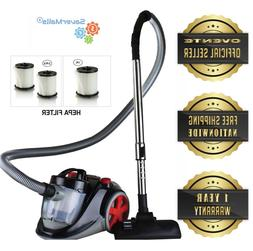 Ovente Bagless Canister Cyclonic Vacuum with HEPA Filter