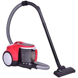 COSTWAY Bagless Canister Vacuum Rewind Corded Cyclonic Adjus