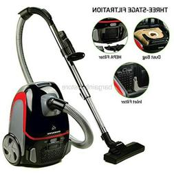 Ovente Canister Vacuum with Tri-Level Filtration: Dust Bag,