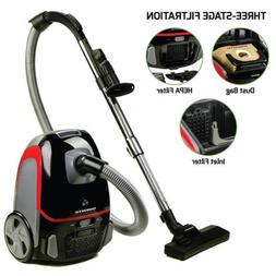 canister vacuum with tri level filtration dust
