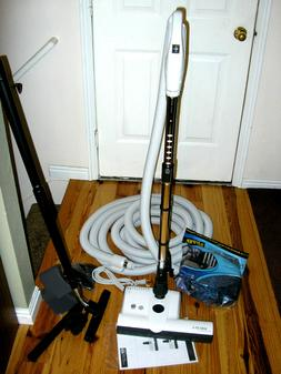 Central Vacuum 35 Foot Hose Accessory Kit Featuring Sebo ET-