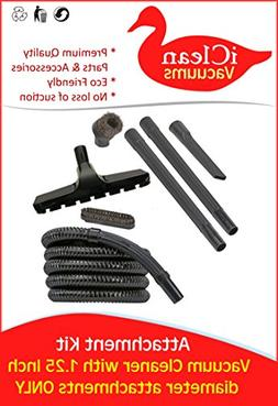 Vacuum Cleaner Attachment Kit with 12 Foot Hose, 2 Wands, Du