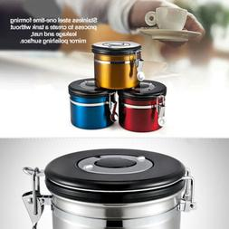 Coffee Canister Airtight Stainless Vacuum Seal Storage Bean