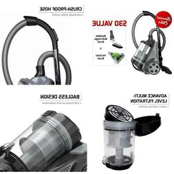 Ovente Cyclonic Bagless Canister Vacuum With Hepa Filter, Mu