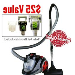 featherlite cyclonic bagless canister vacuum