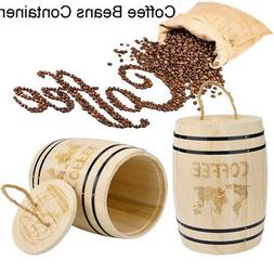 Fresh Coffee Bean Airtight Container Wooden Storage Containe