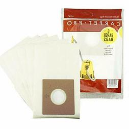 Carpet Pro HEPA Bags for Canister Vacuum Cleaner Model CPC-P