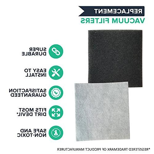 1 Dirt HEPA Filter Fits Dirt Devil Pets Canister & EZ Lite SD40010; to Part # 2KQ0107000, Designed & Engineered By Crucial