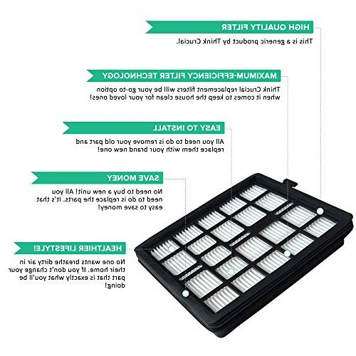 1 HEPA Filter, Foam Filter & Fits Pets & SD40010; Compare to # 2KQ0107000, Designed Engineered By Crucial Vacuum