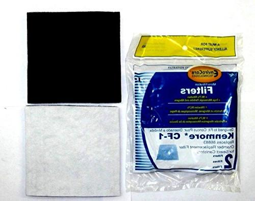 EnviroCare Filtration Canister C Q 50555, 50558, and Panasonic 2 1 EF-2 HEPA