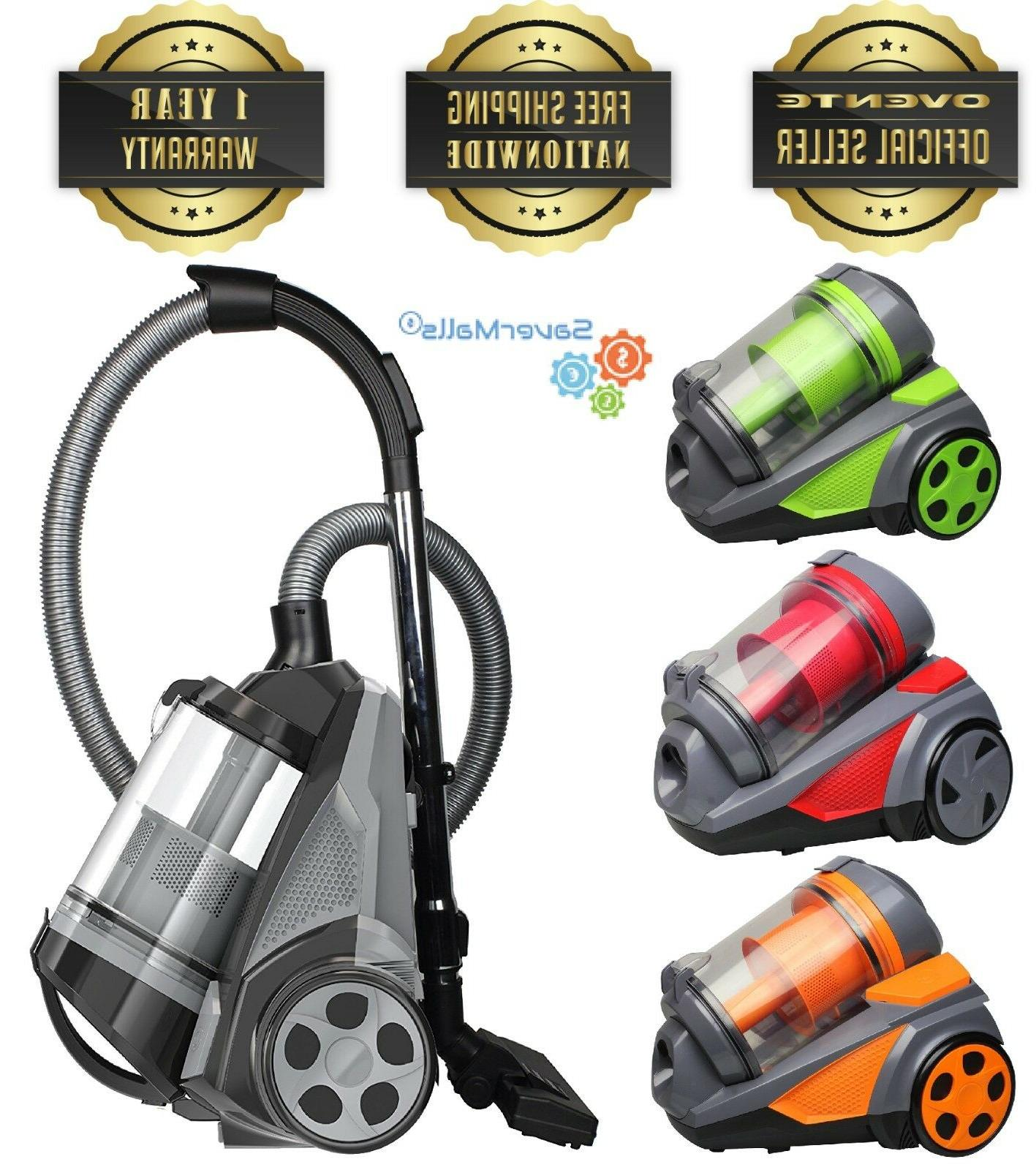 bagless canister cyclonic vacuum cleaner and hepa