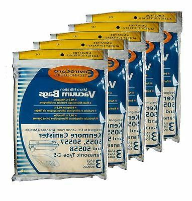 canister c vacuum bags fits