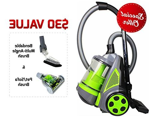 canister vacuum cleaner cyclonic bagless