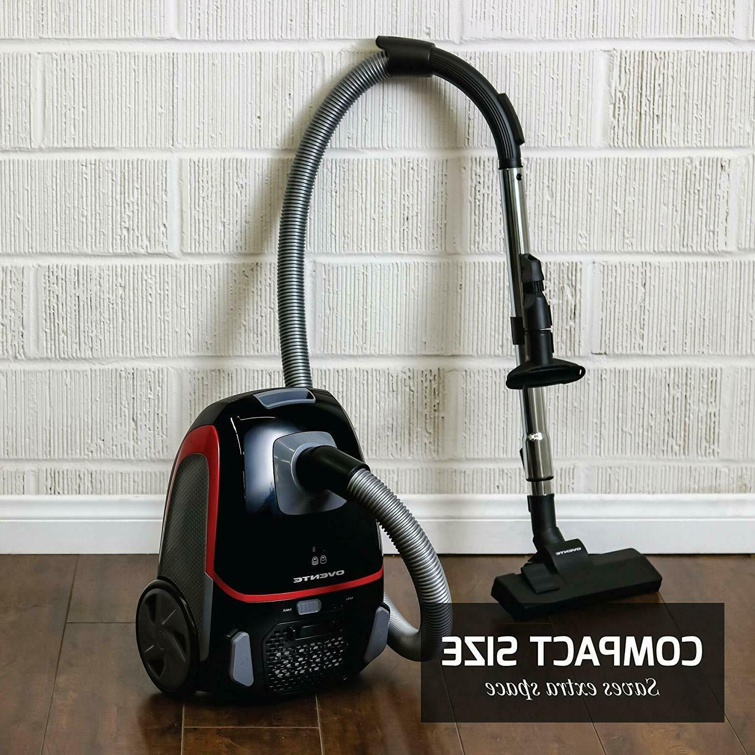 Ovente Canister Vacuum 1400 Watts with Energy Saving Speed C