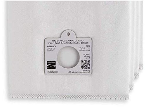 Kenmore C Q and Style Q/C Cleaners. Also Fits Kenmore Number 6 Bags.