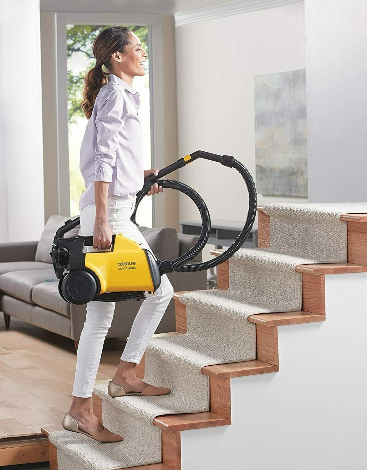 Eureka Corded Canister Vacuum Yellow, 3670