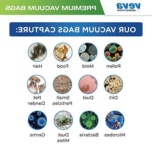 VEVA Premium Type MM Compatible with Eureka Vacuum Cleaners Style MM Model 3680, 60295A, 60295B