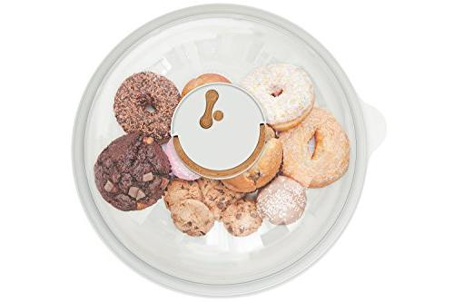 Skywin Air Tight Storage and Serving Cakes Bagels and Loaves for Serving and Transport