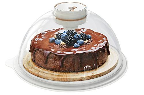 Skywin Vacuum Air Storage Container and Tray Cakes Bagels Bread Loaves - and Keeps Pastries