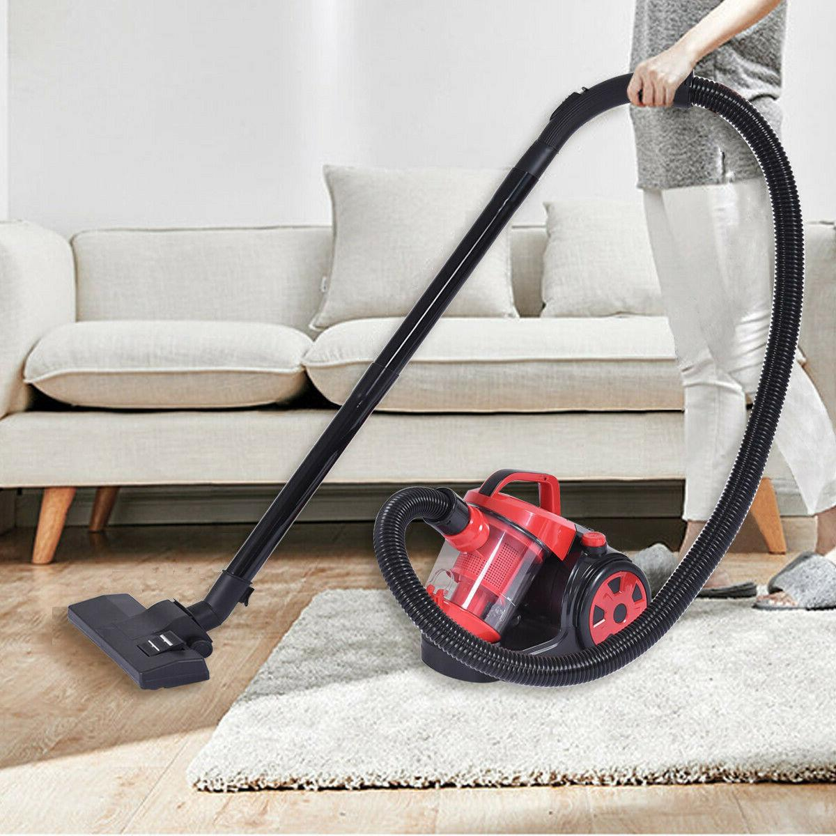 Vacuum Cleaner Canister Cord Bagless Rewind Carpet Hard Floo