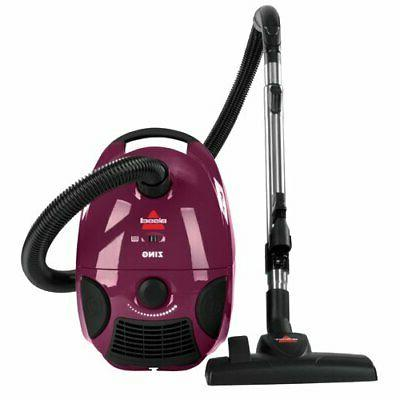zing bagged canister vacuum maroon 4122 corded