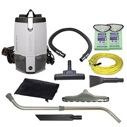 ProTeam ProVac FS 6 HEPA Backpack Vacuum with Commercial Hom