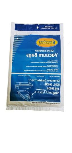 Sears Kenmore Type C Canister Vacuum Bags 5055, 50557 and 50
