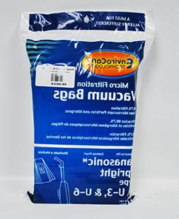 Panasonic Style U, U-3, and U-6 Vacuum Cleaner Bags