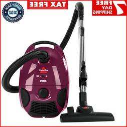 zing bagged canister vacuum cleaner maroon 4122