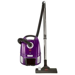 zing lightweight bagged canister vacuum purple 2154a